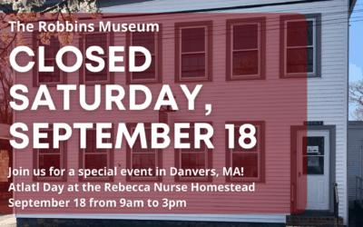 Robbins Closed Sept. 18
